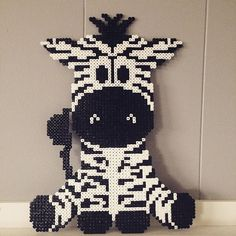 Zebra hama beads by  _camillalind - Pattern…