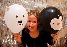 DIY Penguin & Polar Bear Party Balloons