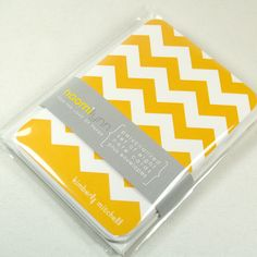 personalized note cards stationery set -chevron stripe (8) CHOOSE color. $13.00, via Etsy.