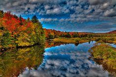 #ADK #GreenBridge #OldForge #Adirondacks - Autumn at the Green Bridge
