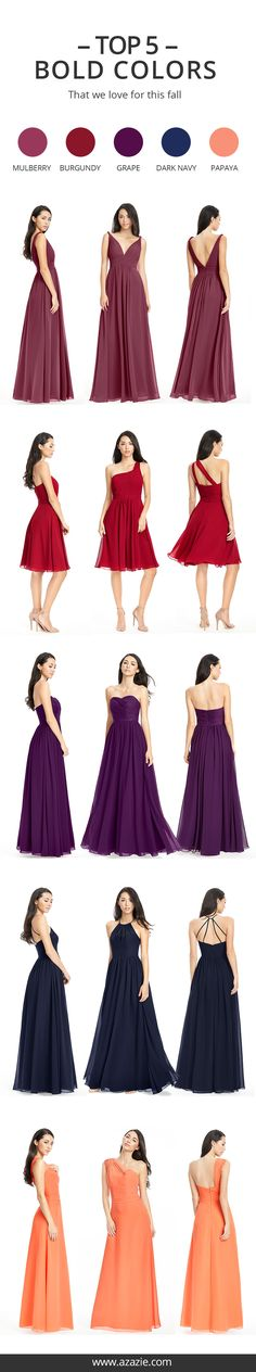 Still searching for some Fall wedding color inspiration? Go ahead and dress up your bridesmaids in these beloved colors this Fall season!