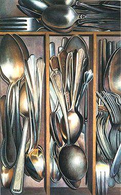 Colored Pencil Artist- silverware