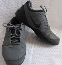 496c30e4f6 Nike-Air-Ring-Leader-Low-Top-Basketball-Shoes-Sneakers-Gray-Black-Size-9-5