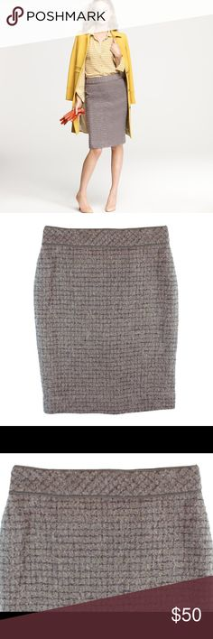 Spotted while shopping on Poshmark: JCREW No 2 Pencil Skirt in Metallic Boucle! #poshmark #fashion #shopping #style #J. Crew #Dresses & Skirts