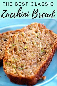 Healthy Bread Recipes, Zucchini Bread Recipes, Baking Recipes, Dessert Recipes, Easy Recipes, Oven Recipes, Easy Bread Recipe, Healthy Breads, Vegetarian