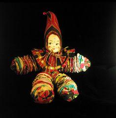 Clown Yo Yo Cloth Rounds 1950's Hand Made | eBay