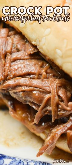 This Crock Pot Mississippi Beef Sandwiches Recipe is our favorite way to eat the popular flavorful Mississippi Beef Roast. Our sandwich pairs the shredded beef from best roast on the site with the perfect toppings and a toasted sub roll. This sandwich is incredible.