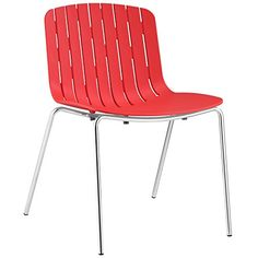 Plutus Brands MF0445 Dining Side Chair, Red
