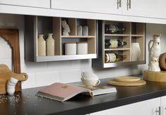 Small Kitchen Ideas: 10 Ways to Make a Small Kitchen Feel Bigger - Love Chic Living Hidden Kitchen, Big Kitchen, Smart Kitchen, Kitchen Living, Kitchen Decor, Kitchen Ideas, Kitchen Storage, Cabinet Storage, Kitchen Trends