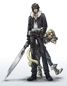 Squall and Zidane