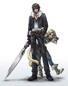 Squall & Zidane (Final Fantasy VIII & IX) #ffviii #ffix