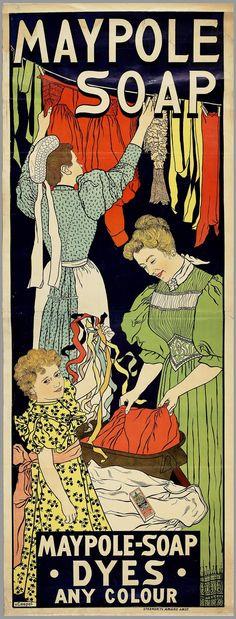Vintage Ephemera: Maypole Soap advertisement - 1896 cute in the laundry room?