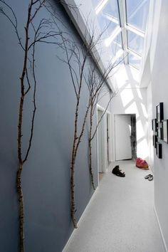 Un couloir véranda.