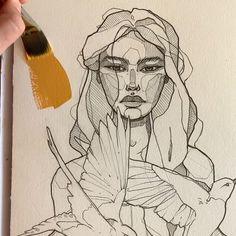 Mustard 🌙 by Polina Bright - Art - Art Sketches Bright Art, Bright Eyes, Arte Sketchbook, Beauty Illustration, Character Illustration, Art Drawings Sketches, Art Illustrations, Cartoon Drawings, Pencil Drawings