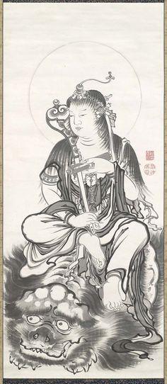 Monju. Ito Jakuchu. 18th century. Japan. MFA. Boston.
