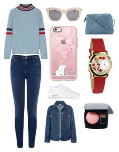 """""""Sans titre #2834"""" by yldr-merve ❤ liked on Polyvore featuring The Elder Statesman, Warehouse, NIKE, Full Tilt, Casetify, Sans Souci, The Row and Whimsical Watches"""