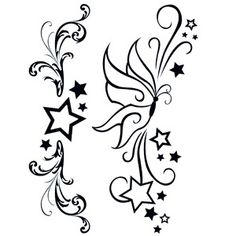 Two stylish simple black temporary tattoos - can be worn separately as wrist, ankle, arm band or lower back tattoos.http://www.sportsink.ie/products/351/132/Modern-Stars-and-Butterfly-Tattoo.html