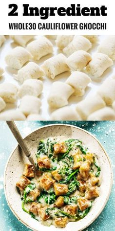 whole 30 recipes How to make 2 ingredient cauliflower gnocchi. An easy and paleo dinner that makes for easy meal prep. Paleo for beginners. recipes for dinner. Paleo For Beginners, Clean Eating For Beginners, Vegan Recipes Beginner, Easy Meal Prep, Easy Meals, Paleo Recipes, Whole Food Recipes, Meatless Whole 30 Recipes, Caveman Diet Recipes