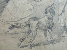 Bellangé Hyppolyte - Un chien attentif (détail)