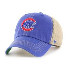 brand new bc3fb 6be10 Chicago Cubs 47 Brand Trawler Blue Clean Up Adjustable Hat