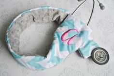 Embroidered Padded Stethoscope Cover  Nurse by PaisleyMaizie, $15.00