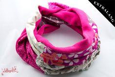 Patchwork-Schal von #Lieblingsmanufaktur: pink, beige