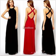 X back long dress group