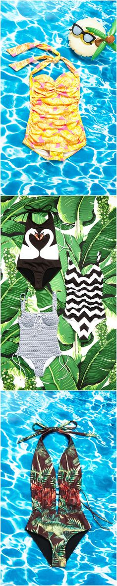 What We're Loving: printed one-piece swimsuits that show your flirty fun side!