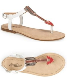 Lucky Brand 'Carroh' Sandal available at #Nordstrom - Perfect Pi Beta Phi arrow sandals! #piphi #pibetaphi Available here: http://shop.nordstrom.com/s/lucky-brand-carroh-sandal/3654390?origin=keywordsearch-personalizedsort&contextualcategoryid=60139206&fashionColor=White&resultback=0&cm_sp=personalizedsort-_-searchresults-_-1_1_A