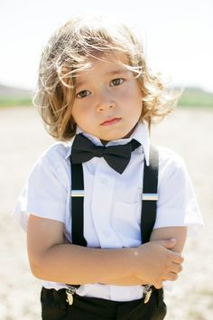 More click [.] Cute Adorable Ring Bearer Outfits Bow Tie By Chloe Happyweddcom 52 Cutest Ring Bearer Looks That Admire Happyweddcom Ring Set, Ring Verlobung, Suspenders For Kids, Ring Bearer Outfit, Ring Bearer Suspenders, Page Boy, Wedding With Kids, Event Styling, Beautiful Children