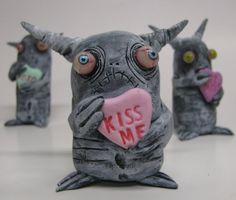 lowbrow one of a kind figure Valentines Day by mealymonster, $26.00