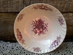 "Vintage PURPLE Swinnerstons Royal Essex ""Desire"" Large Vegetable Bowl, Ironstone, Serving, Tableware, Mulberry, Plum, English Transferware by CottonCreekCottage on Etsy"