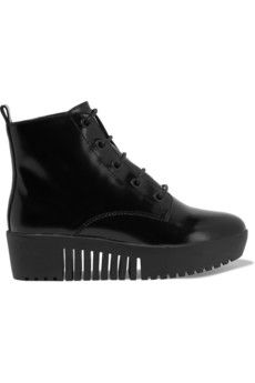 Opening Ceremony Grunge patent-leather platform boots | THE OUTNET