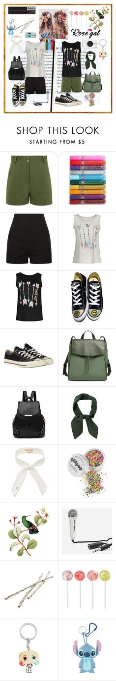 """""""Два стилі"""" by lorena-l ❤ liked on Polyvore featuring TIBI, Elmer's, Converse, Skagen, Chloé, donni charm, Kikkerland, Crate and Barrel, Hot Topic and Polaroid"""