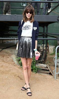 shining skirt - Alexa Chung
