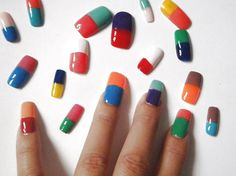 fake nails bicolor fashion victim trend fall by LaSoffittaDiSte
