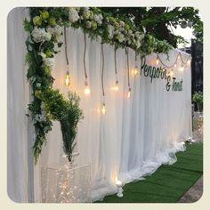 Spring Wedding Decorations, Engagement Decorations, Backdrop Decorations, Ceremony Decorations, Wedding Backdrop Design, Rustic Wedding Backdrops, Floral Backdrop, Wedding Table, Ideas