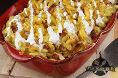 Chicken Bacon Ranch mac and Cheese | SouthernBite.com