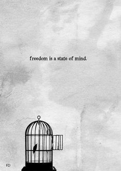 """Freedom is a state of mind..."" ― Walter Mosley #quotegraphic"