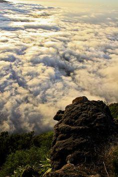 Mar de nubes sobre el Valle de El Golfo, El Hierro  Que ganas tenía de una foto del mar de nubes. Precioso, dan ganas de lanzarse en plancha y rebotar en esos algodones.....verdad?. QUE BELLA ES MI TIERRA.