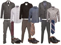 Today is Career Attire Thursday! Men make sure you are looking your best for interviews and work! Men's Business Professional Attire - Build your wardrobe with separates for endless mix and match possibilities. Mens Business Professional, Business Attire For Men, Professional Dresses, Business Men, Corporate Fashion, Business Fashion, Interview Attire, Office Outfits Women, Men's Outfits