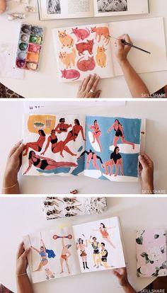 Illustration & Inspiration: Keeping a Sketchbook   sketchbook ideas   online classes   illustration   Leah Goren sketchbook