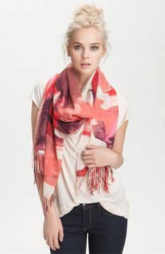 Nordstrom 'Color Spill' Tissue Scarf available at #Nordstrom