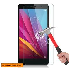 """Clear Tablet Glass Screen protector Guard For ZTE Grand X View 2 8/"""""""