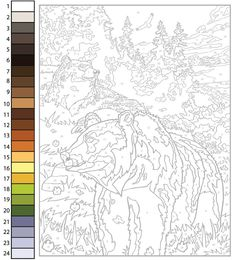 Adult Color By Number, Color By Number Printable, Color By Numbers, Paint By Numbers, Abstract Coloring Pages, Colouring Pages, Coloring Books, Eagle Painting, Giraffe Painting