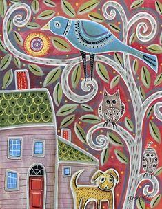 Owls+&+Dog+at+FramedArt.com