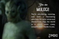 I took Zimbio's 'Sleepy Hollow' quiz and I'm Moloch! Who are you?