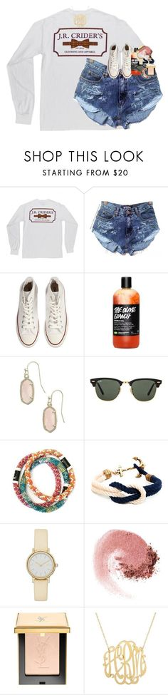 """I start school Monday "" by classynsouthern ❤ liked on Polyvore featuring Converse, Kendra Scott, Ray-Ban, Skagen, NARS Cosmetics and Eve Lom"