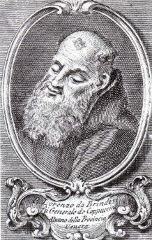 Saint Lawrence of Brindisi, O.F.M. Cap., (July 22, 1559 – July 22, 1619), born Giulio Cesare Russo, was a Catholic priest and a member of the Order of Friars Minor Capuchin. Doctor of the Church.