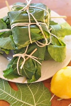 ricotta in fig leaves
